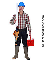 Happy laborer