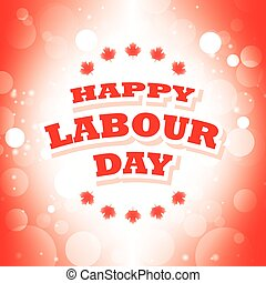 Happy Labour Day Canada card