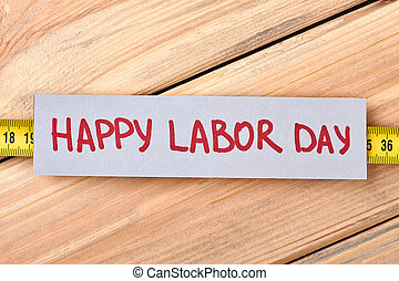 Happy Labour Day greeting paper.