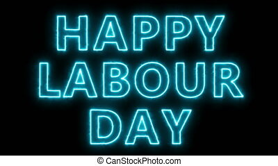Happy labour day text, 3d rendering backdrop, can be used...
