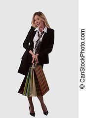 Happy lady shopper