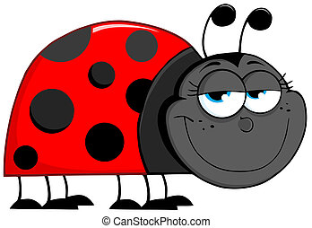 Ladybug Cartoon Character - Happy Ladybug Cartoon Character
