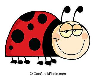 Ladybug Mascot Cartoon Character - Happy Ladybug Mascot...