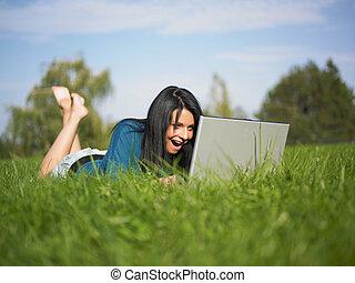 Happy Laptop User