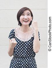 Happy laughing woman portrait