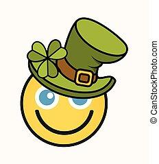 Happy Leprechaun - Cartoon Smiley