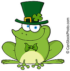 Happy Leprechaun Frog