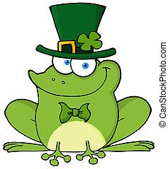 Happy Leprechaun Frog
