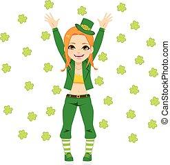 Happy Leprechaun Girl