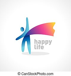happy life symbol vector