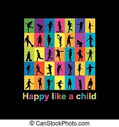 Happy like a child concept
