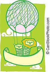 Happy Lion Balloon Banner