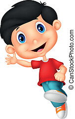 Happy little boy cartoon