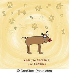 happy little cute dog