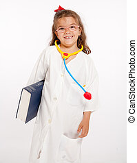 Happy little doctor