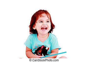 Happy little girl portrait