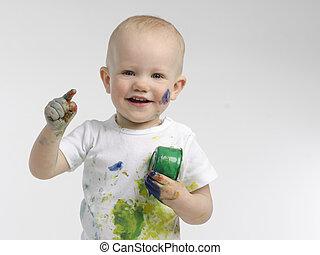 Happy little painter