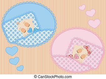 sleeping children - happy little sleeping children boy and...