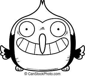 Happy Little Woodpecker - A cartoon illustration of a...
