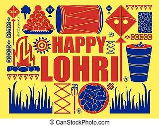 Happy Lohri Punjab festival celebration background