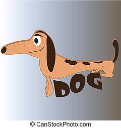 happy long dog