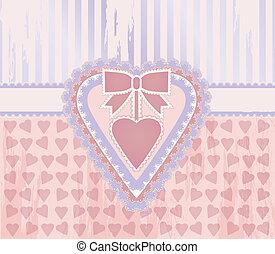 Happy love day vintage card