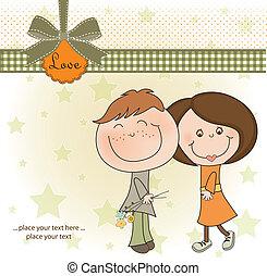 happy lovers couple