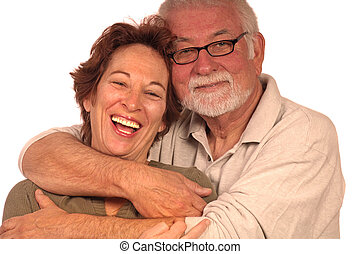 Happy Loving Couple - A happy loving couple embracing