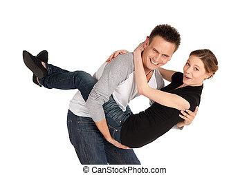Happy Loving Couple Fun