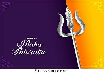 happy maha shivratri indian traditional festival background