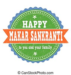 Happy Makar Sankranti stamp