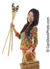 Happy Malay woman