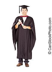 male Chinese university graduate full length