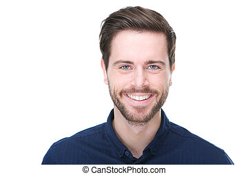 Happy male fashion model smiling