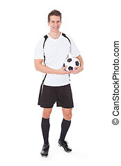 Happy Male Soccer Player