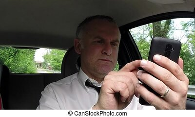 Happy Man Businessman Car Driver
