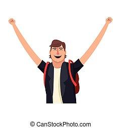 Happy man cartoon
