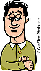 happy man cartoon illustration