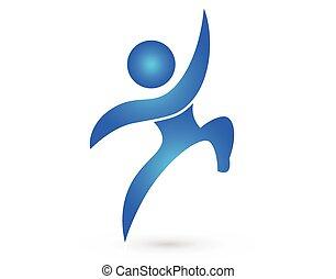 Happy man figure logo