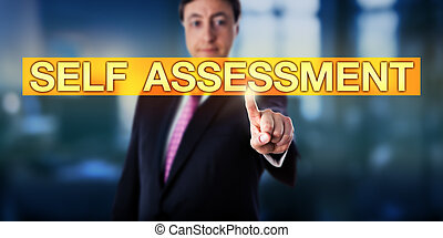 Happy Manager Pressing SELF ASSESSMENT