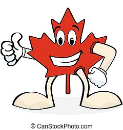 Happy maple leaf