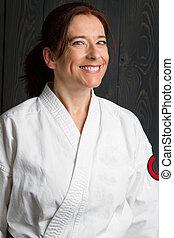 happy martial artist
