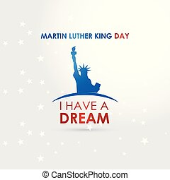 Happy Martin Luther King day design vector