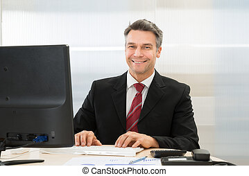 Happy Mature Businessman