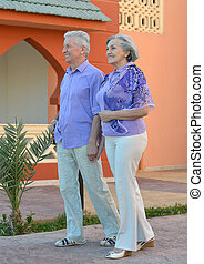 Happy Mature couple on vacation