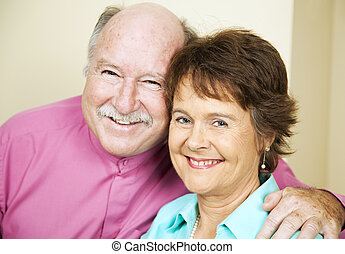Happy Mature Couple - Portrait of happy, loving couple in...
