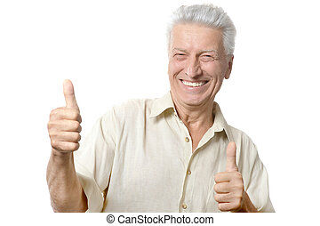Happy mature man