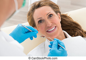 Woman Having Dental Check-up