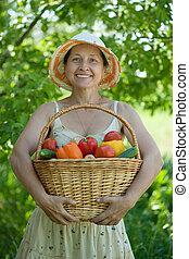 woman with harvest