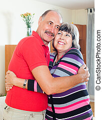 Happy mature woman with  husband